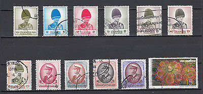 THAILAND -12 bolli serie incomplete usati 12 stamps incomplete set USED lotto 1