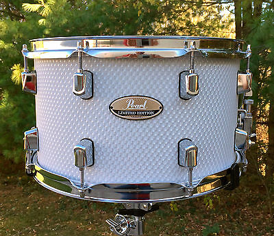 "Pearl Limited Edition 8x14"" White Honeycomb Maple Snare Drum LMPR-1480S/C726"
