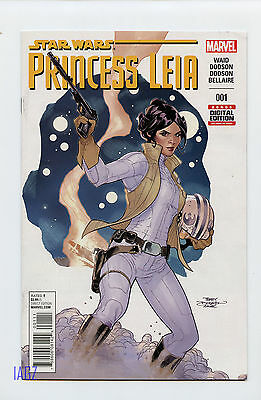 MARVEL COMICS 2015 STAR WARS PRINCESS LEIA #001 VG/F Ad Hasbro