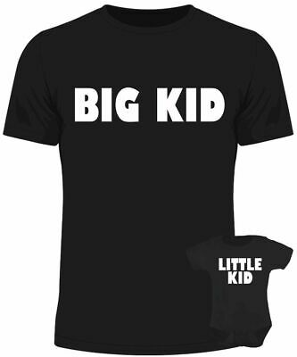 Big kids little kid baby dad matching set baby grow t shirt father son