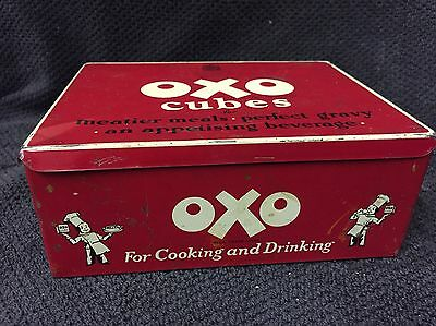 DELIGHTFUL Vintage Large   Oxo Advertising Tin Size 16cm/12cm.