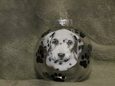 "Hand Made Dalmatian Puppy 3"" Glass Christmas Ornament / Ball"