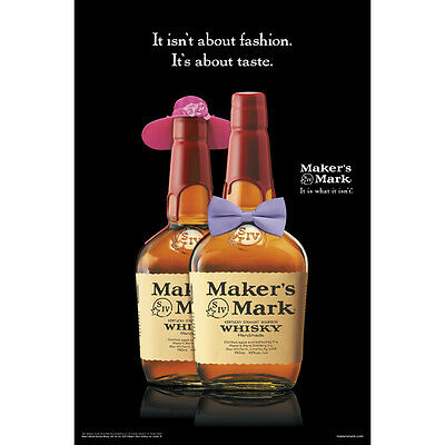 "Makers Mark ""fashion"" poster 24 by 36  new"