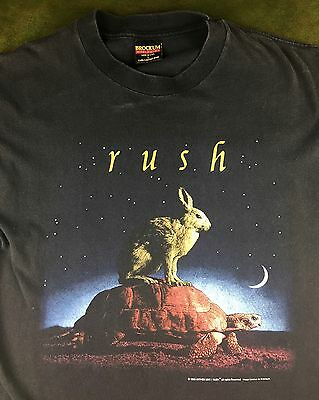 True Vintage 1993 Licensed RUSH Counterparts Tour Concert Graphic Black T-Shirt