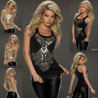 NEW WOMEN CLUBBING TOP FANCY SHIRTSEXY LADIES PARTY Shirt SIZE 6 8 10 12 S M L