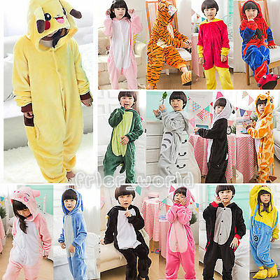 Kids Animal Pajamas Costumes Pokemon Pikachu Hoodies Kigurumi Charmander