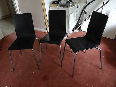 Retro, Vintage 60's or 70's Original Wooden Chairs Set of 3 in BH18 Poole