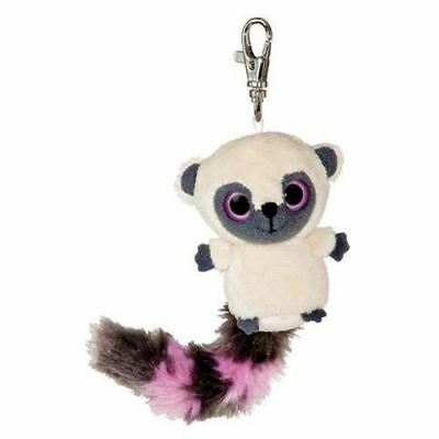 Yoohoo & Friends 8cm pink & grey tailed bushbaby clip-on