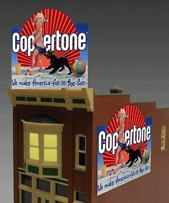 Coppertone Animated Billboard Sign for N HO Scale Miller 1062