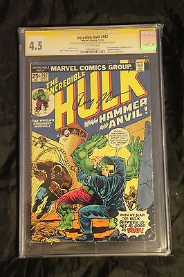 INCREDIBLE HULK #182 CGC 4.5 Signature Series Signed by Roy Thomas - Wolverine