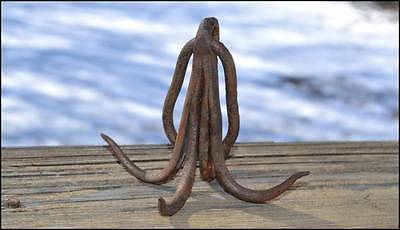 Antique Wrought Iron Hand Forged Hook 4 Tines Meat