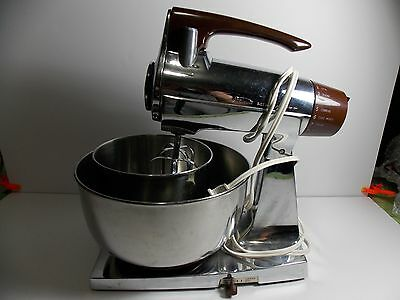 Vintage Chrome Sunbeam - DELUXE MIXMASTER MIXER - w/ bowls & accessories