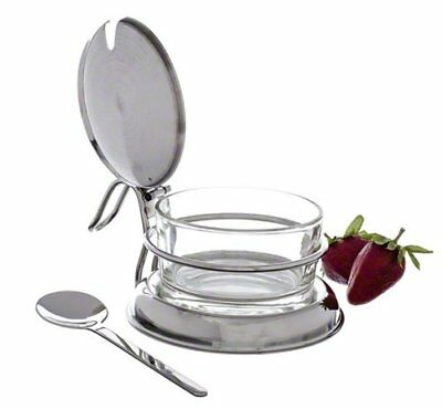 NEW!! Tablecraft Glass Condiment Jar Set For Kitechen Table or Counter , 6-Ounce