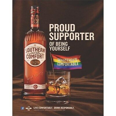 Southern Comfort  Lgbt Rainbow Poster  18 By 26