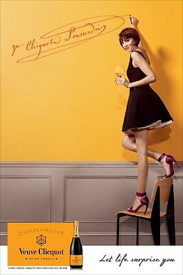 "veuve clicquot ""Let Life Surprise You"" Poster 18 By 27"