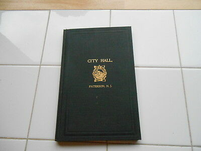 RARE Vintage Antique CITY HALL PATERSON NJ 1896 Fine Early Book New Jersey