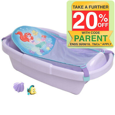 First Years Disney Little Mermaid Bath Tub Newborn/Baby/Infant/Toddler Purple