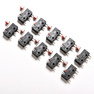 10Pcs Micro Roller Lever Arm Open Close Limit Switch KW12-3 PCB Microswitch FJ