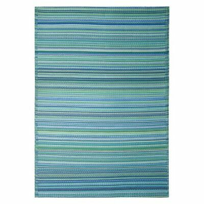 NEW FAB Rugs Cancun Plastic Outdoor Rug in Aqua, Yellow