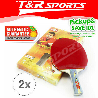 2x DHS 3002 3 Star Table Tennis Rackets Ping Pong Paddles Shakehand Long Handle