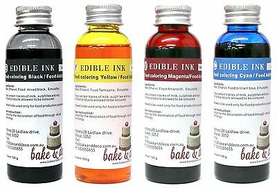 Edible Ink Refill Bottles 100ml Cannon or Epson