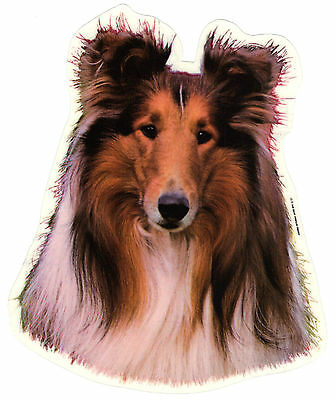 Collie Rough Sable Decal Sticker Dog Breed Transparent Uv Resistant Plastic Film