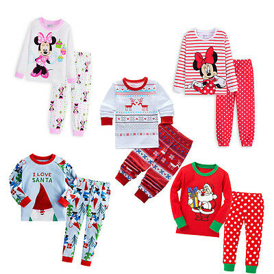 Kids Baby Boy Girl Children Clothing Set Pajamas Sleepwear Nightwear Size 1-7Y