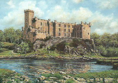Dunvegan Castle, Isle of Skye, Scotland UK -- Modern United Kingdom Art Postcard