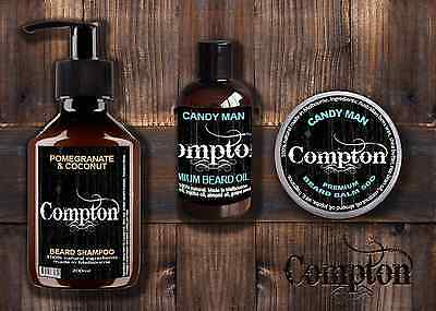 Compton Beard Balm, Oil & Shampoo Set