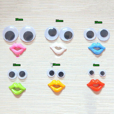 8-18mm Round Mixed Wiggly Wobbly Googly Eyes For DIY Scrapbooking Crafts FJ
