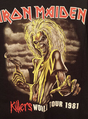 Iron Maiden 2XL Vintage Concert Shirt Killers Tour ONLY WORN ONCE