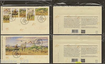 Australia 1993  Prehistoric Animals. Set of 2 First Day Covers
