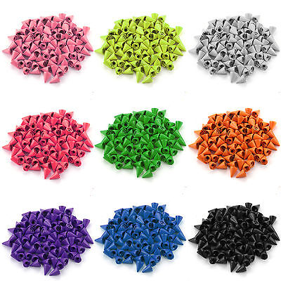 100x Metal Bag Studs Cone Punk Spikes Spots Rivet Leather craft DIY 14 Colors