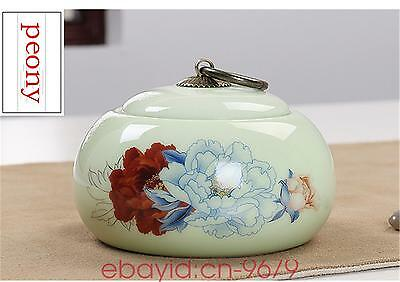 China floral tea caddies colorful tea pot storage canister Ceramic jar box