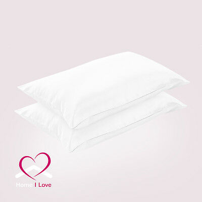 100% 22mm Silk White Pillowcases Set of 2 Rejuvenate Skin&Hair Anti Ageing