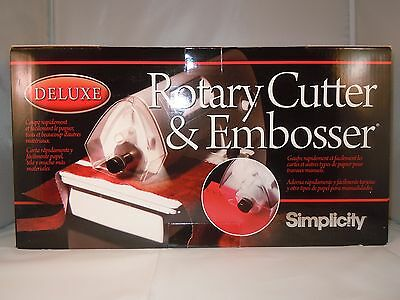 Rotary Cutter & Embosser Deluxe Simplicity Brand New Same Day Dispatch Uk Seller