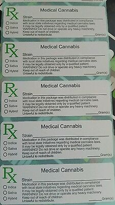 RX Medical Label UK listing - various quantities - pop tops