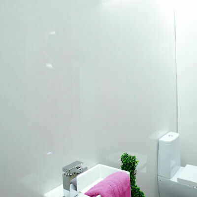Gloss White Bathroom Panels Ceiling Cladding Kitchen Shower Wall Claddtech PVC