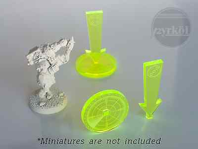 Pyrkol numbered Tactical Objective Markers / Tokens  Warhammer 40K eldar tau 7th