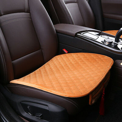 Brown Universal Warm Car Seat Cushion Cover Single/Double Seat Cover