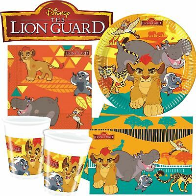 Disney The Lion Guard King Party Tableware Plates Cups Napkins Kids Birthday
