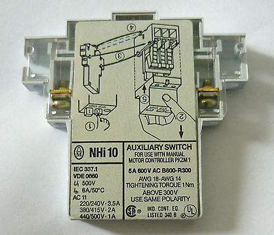 NHI10 SWITCH CONTACT AUXILIAIRE 600V AC B600-R300 NHi 10