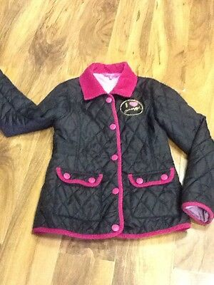 Pineapple Girls Quilted Black Jacket Aged 8/9 Years Old