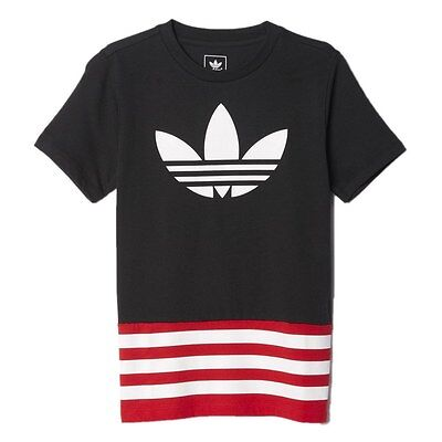 Camiseta adidas – Junior Fleece negro/rojo S96065 Niños Kids Children Sport Urba