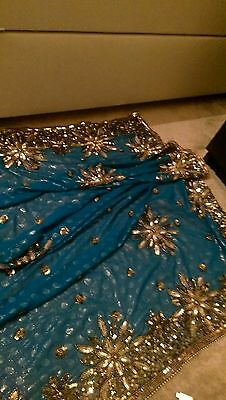 Bollywood sarees with heavy embroidery