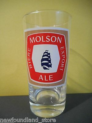 Vintage Molson Export Beer & Ale Glass