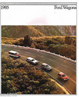 1985 Ford Station WAGON'S Brochure w/Color Chart:Country Squire,VAN,LTD,ESCORT,L