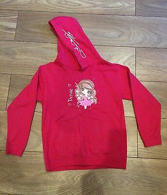 Girls Pink Age 9-11 Years Claireabella Hooded Top