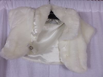 BHS Wedding Collection Jacket girls 9-10 - Ivory faux fur