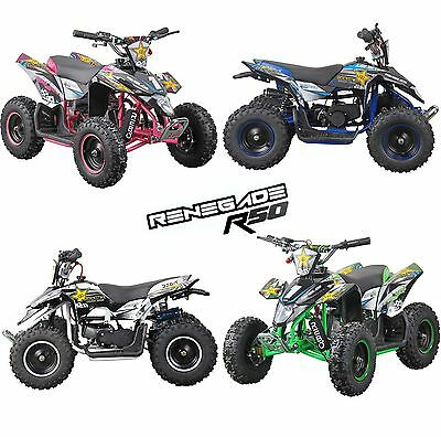 Rebo Renegade R50 50cc 2 Stroke Child's Petrol Engine Mini Quad Bike  - 4 Colour